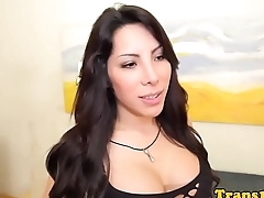 Bootyful latina tgirl analfucked doggystyle