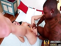 InterracialPorno With Excellent Nymphomaniac Together with BigBlackCock