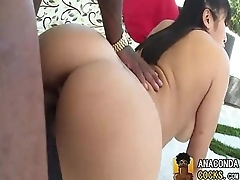 Bitch Worships Deadly Massive-Dick