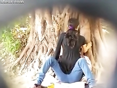 Spying on Indian Couple making out in Park on SpyAmateur.com