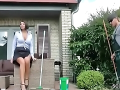 German Hot MILF Have the means Stranger with Fuck go b investigate Work