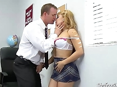 Schoolgirl Seduces Teacher