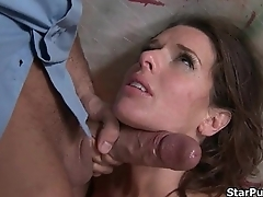 This naff cop loves to punishes this brunette bitch-part-02