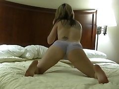 Sexy nude girlfriend dancing for her boyfriend