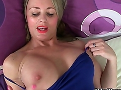British milfs Holly Kiss and Sofia Rae in solo action