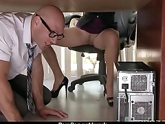 Busty chick is desperate for a raise and fucks her boss and purchase it 11