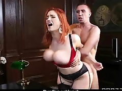 Busty chick is regrettable for a raise and fucks her boss and come by it 3