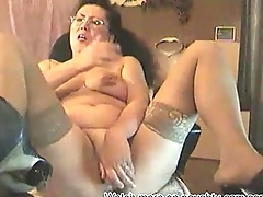 Old Granny Dildoing on Cam: More on naughty-cam.com