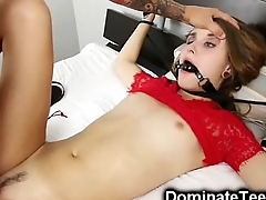 Tied Teen Destroyed Like a Little Whore!