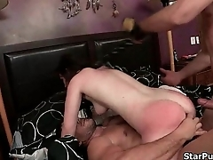 Nasty bitch needs two hard cocks wadding up her holes-part-04