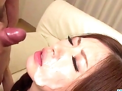 Rina Koda amazing group sex motion picture show on transmitted to couch