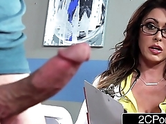 Tall Gaffer Doctor Jessica Jaymes Milking Her Patient