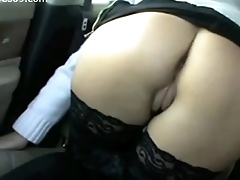 Hot Young MILF Flashing Pussy and Confidential in Car exceeding Realwives69.com