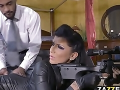 Romi derails into double penetration