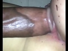 Creampie inside concise white pussy