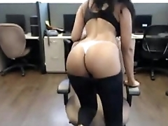 Sexy Latina Big Bristols Strip &amp_ Duck Work