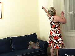 Hot cadger bangs lonely 60 years old granny