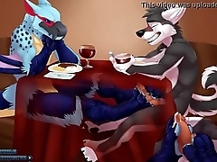 Gay Bird Giving Wolf Footjob Under Game table - YIFF Jasonafex - XVIDEOS com