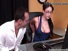 Despondent Nerd Makes Uncle Cum Very Hard With Her Smelly Feet