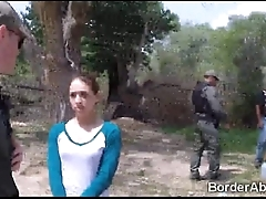 Latina teen caught endorsing the border fucks for her freedom20p-3