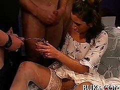 Wet oral-service with tit fuck