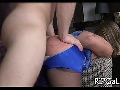 Diminutive playgirl in anal
