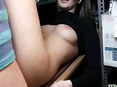 A girl fucks in public for some domineering 22