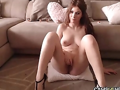 X-rated Big Mamma Babe With Nice Bush Rubs &amp_ Plays With Her Tight Pussy on Webcam pt 24