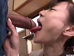 Asian cuttie cleaning say no to brother'_s connect boner