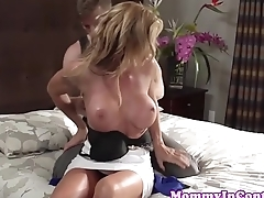 Busty stepmom Janet Mason with Farrah Dahl