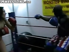 Boxing Sinn Astucious Combat Fetish - Big Booty White Girl Boxer