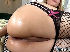 Lord it over Tgirl Eva Lin Having Anal Fun Alone