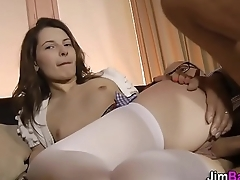 Teen back stockings screwed