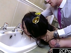 Daddy'_s Little Defecate Cleanser - Bratty British Slut Alessa Savage