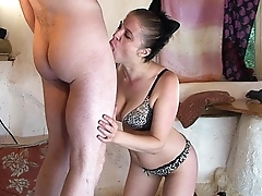 Super scoundrel Milk Kitty takes on a big dick and eats cum - Erin Electra