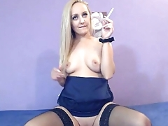 Hot Blonde Smoking while Deepthroating Live on 69SexCams.net